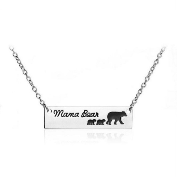 Mama Bear with 2 Cubs Necklace